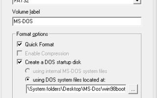 Как создать загрузочную флеш-карту MS-DOS